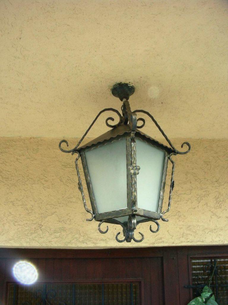 Nameštaj i enterijer od kovanog gvozdja za osvetljenje 2